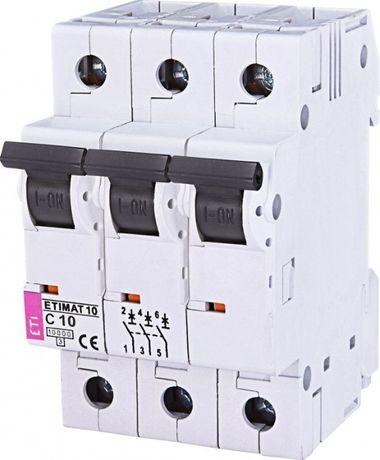 Автоматический выключатель ETIMAT 10 3p C 10А (10 kA)