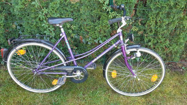 Rower miejski damka koła 24 cale dla mniejszej osoby lub dziecka