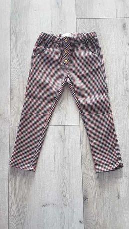 Zara spodnie w pepitkę r.110