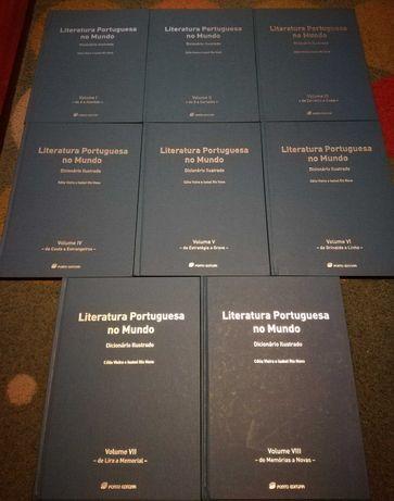Literatura portuguesa no mundo - dicionário ilustrado (8 volumes)