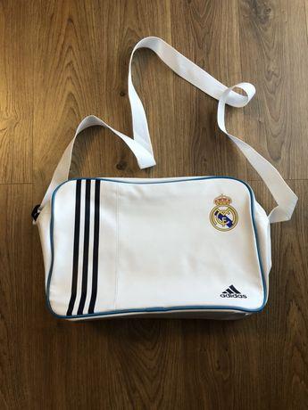 Torba, torba na ramie, Adidas, Real Madryt, biała