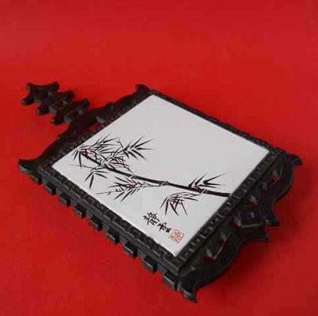 Винтажная подставка из чугуна и керамической плитки