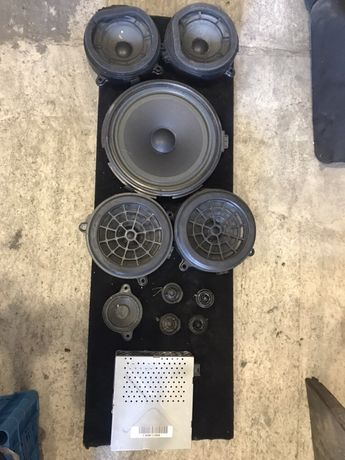 Mercedes w203 аудіосистема динамики сабвуфер усилитель
