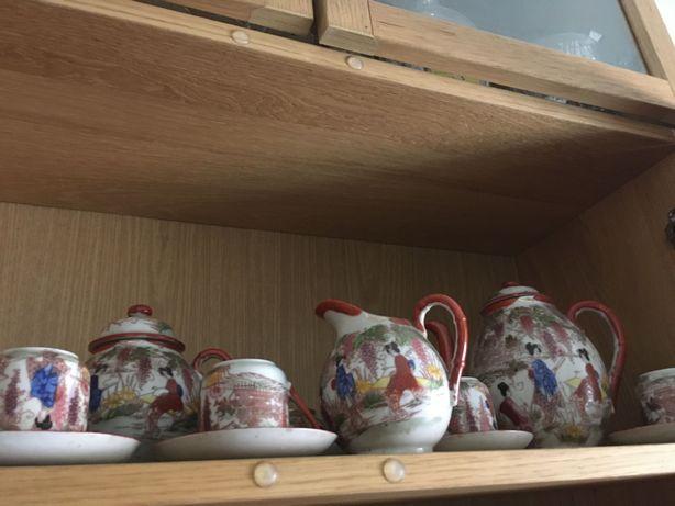 Conjunto de chá de casca de ovo