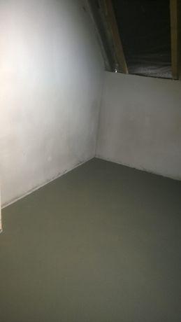 Tynki, Wylewki maszynowe cementowe zacierane mechanicznie,