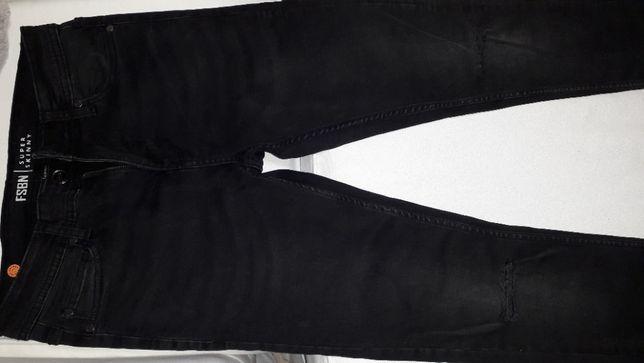 Spodnie jeans super skinny 29/32 czarne