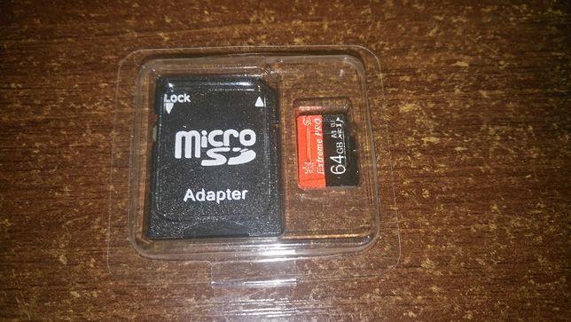 Карта памяти с адаптером MicroSD Extreme Pro флешка 64 GB