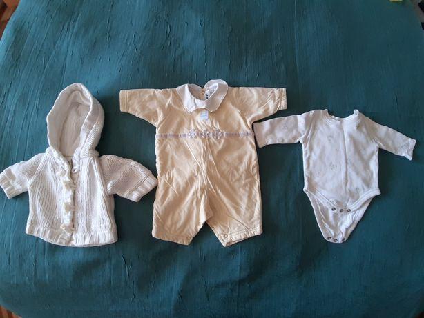 Пакет, набор для мальчика/девочки: утепленный бодик и ромпер