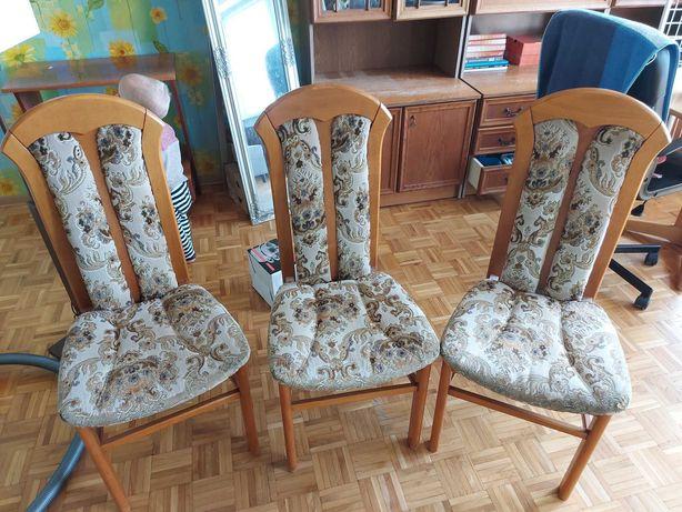 Pilne! 3 krzesła drewniane wygodne stabilne