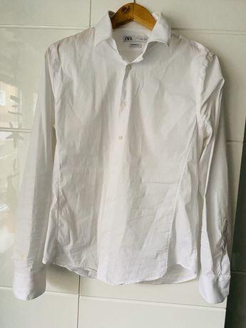 Biała koszula taliowana Zara, L