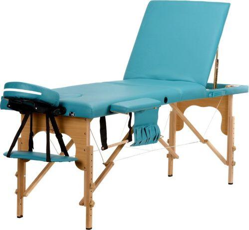 OGROMNY Stół, łóżko do masażu 3-segmentowe drewniane Różowe Kolory