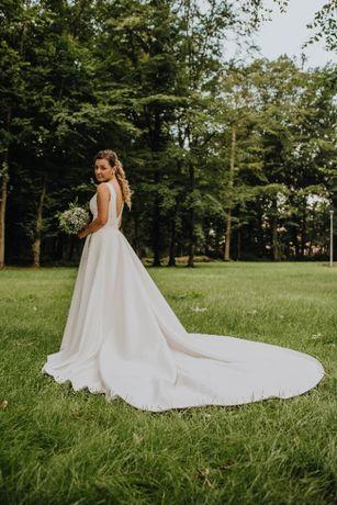 Suknia ślubna gładka roz. 38