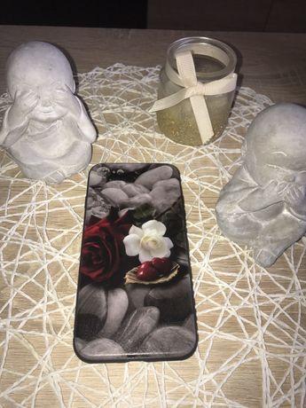 Slim Case Etui iPhone 7 8 pokrowiec  Serce Róża Kamienie