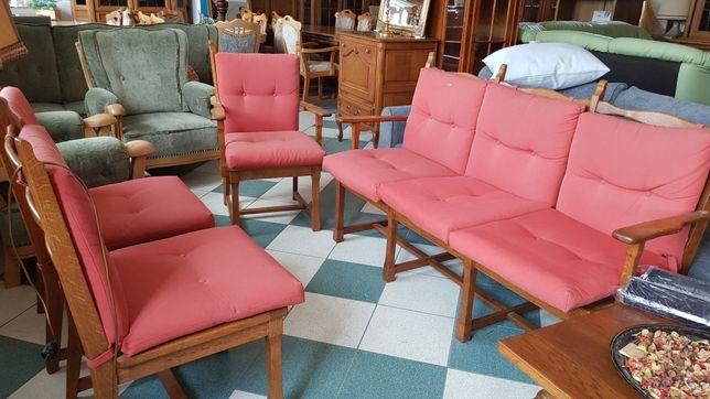 Ławka z fotelem i 2 krzesłami
