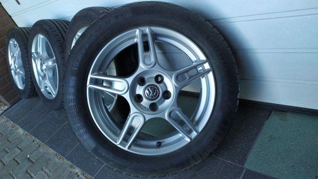 Kola aluminiowe 16'' 5x100 opony letnie 195/55/16 VW AUDI SEAT