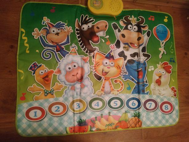 Музыкальный коврик,zippy mat,animals party, play mat