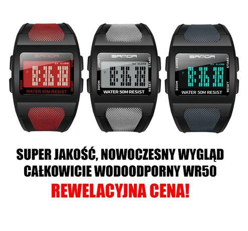 Zegarek SANDA, podświetlenie ILLUMINATOR wodoodporny WR50, nowy model!