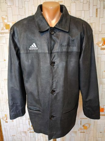 Куртка мощная кожаная ADIDAS нубук р-р прибл. 52-54