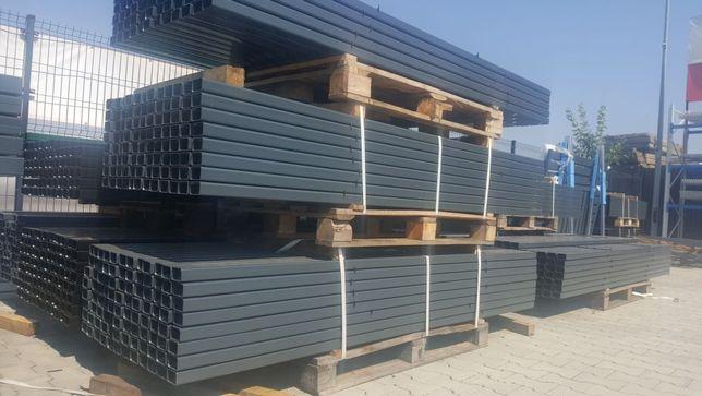 Słupek ogrodzeniowy 60x40 gr. 1,5 mm wys. 200 cm do paneli oc + RAL