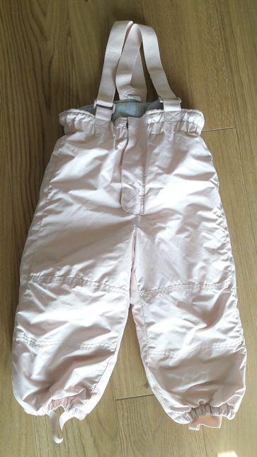 Spodnie zimowe narciarskie kombinezon ciepłe H&M