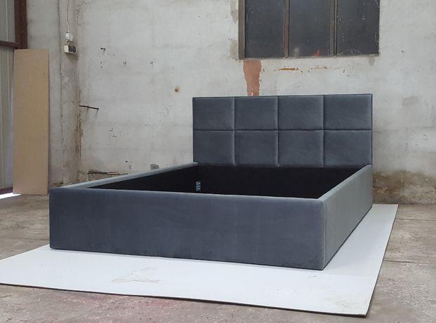 Łóżko sypialniane kafelki 140/160/180 panele + stelaż i pojemnik
