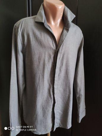 Базовая серая брендовая рубашка JBC котон