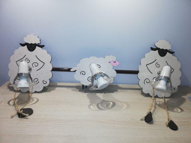 Kinkiet owieczki na 3 żarówki