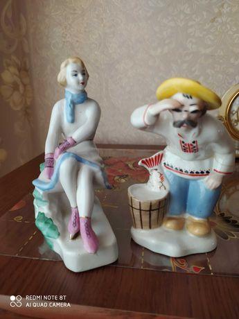 Фарфоровые статуэтки цена за две