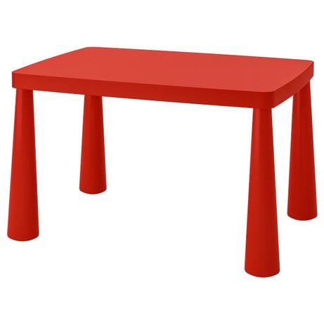 Комплект стол и стульчик красный IKEA MAMMUT в наличии, выбор цвета!