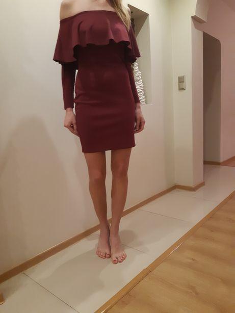 Sukienka bordowa vubu