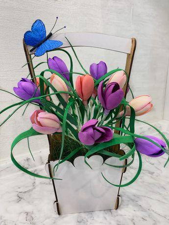 Весенние цветы ручной работы