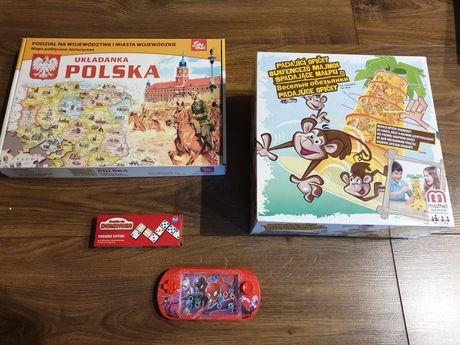 Spadające małpki układanka Polska domino