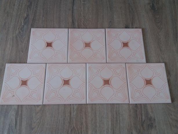 Płytki ceramiczne kwadratowe 15x15cm PRL