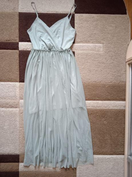 Сарафан, платье бирюзовое
