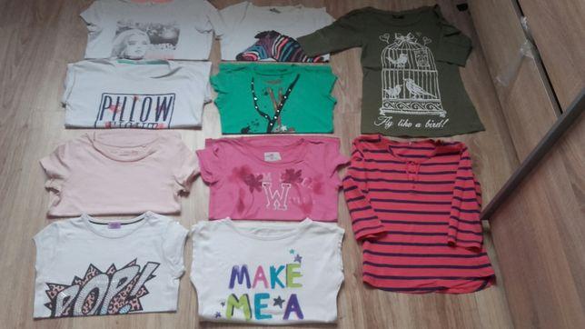 Bluzki 10 szt koszulki 134 140