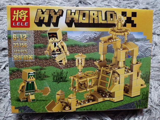Złote klocki Gold Minecraft My World 123 elem klocki jak lego hit 2019