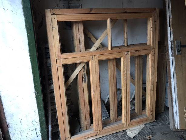 Двері вікна рами дерев'яні б/у