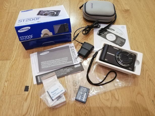 Máquina Fotográfica SAMSUNG ST200F Wifi+Bateria Extra+Bolsa+Cartão 1GB
