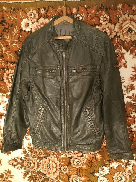 Мужская куртка Mustang кожанка оригинал кожаная с натуральной кожы