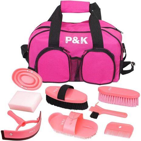 P&K Horse care set - różowy zestaw narzędzi do czyszczenia koni