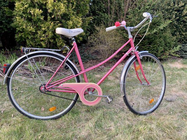 Rower RETRO różowy holenderski damski   damka   holenderka