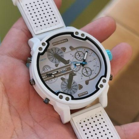 Zegarek DIESEL - czerwony lub biały, GUMOWANA bransoleta lub pasek!