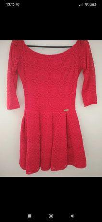 Sukienka krótka czerwona okazja wesele studniówka XS