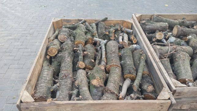 Drewno kominkowe, opałowe, do wędzenia, owocowe, wiśnia, jabłoń,