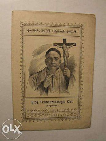 Błogosławiony Franciszek-Regis Klet, biografia z 1900 r broszurka