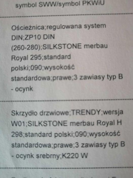 Nowe drzwi Pol-Skone Trendy W01 wraz z ościeżnicą Żyrardów - image 1