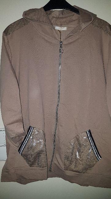 Bluza damska NOWA z metką 130 biust capucino z kapturem