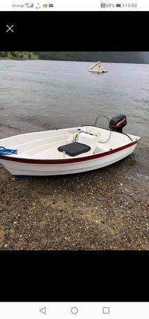 Łódka wędkarska 3m, motorową  silnik mercury 10km