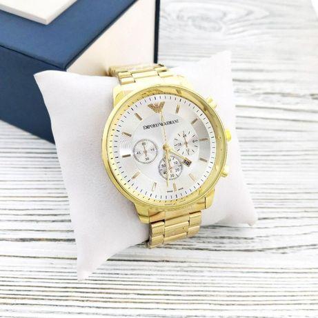 Zegarek Meski Emporio Armani B134 Gold-Silver Złoty