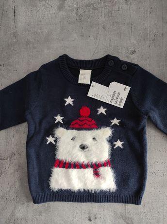 Sweter sweterek nowy H&M Święta świąteczny Boże Narodzenie Wigilia